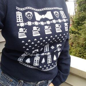 Holiday Who Fun Doctor Sweatshirt Small